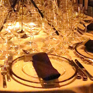 Wine Dinner Place Setting