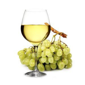 White Wine Glass Grapes