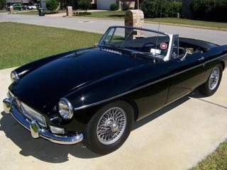 Car - 1963 black-on-black MGB