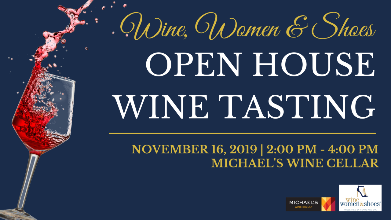 Wine, Women & Shoes Tasting